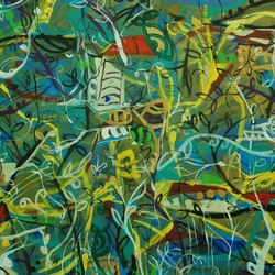 , Virgin Jungle Series 3, Abstract Landscape, $2,940