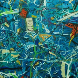 , Virgin Jungle Series 2, Abstract Landscape, Sold
