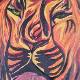 Bryan Davis: '30 shades of lion', 2019 Other Painting, Cats. Artist Description: I started with the idea of drawing a lion face.  It was so much fun painting it that I did not want to stop and kept adding more colors to the point that I had this lion with so many shades.  I had to paint it again on ...