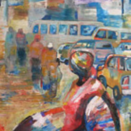 Ben Adedipe: 'Going home', 2013 Acrylic Painting, People. Artist Description:    An African woman, going home, trader, market woman   ...