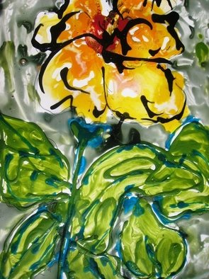 Baljit Chadha Artwork divineflowers, 2012 Mixed Media, Floral