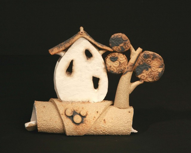 John Quinn  'Tree House', created in 2010, Original Ceramics Handbuilt.