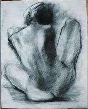 - artwork Seated_model_from_behind-1112394174.jpg - 1993, Drawing Charcoal, Figurative