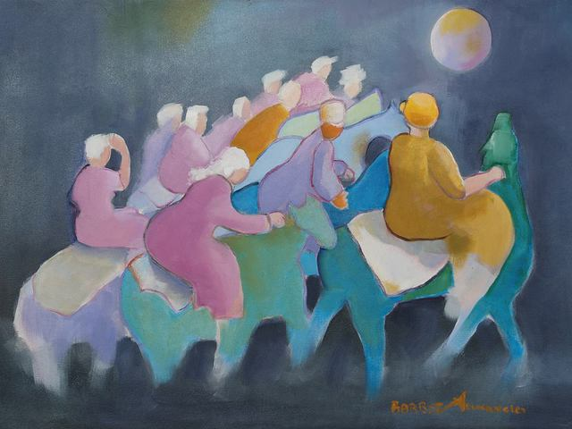 Artist gladys barbot Desmangles. 'CAVALCADE' Artwork Image, Created in 2009, Original Painting Oil. #art #artist