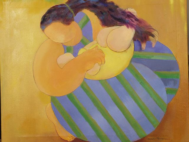 Artist gladys barbot Desmangles. 'MOTHERHOOD' Artwork Image, Created in 2010, Original Painting Oil. #art #artist