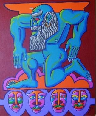 Artist: Gerald Porter - Title: Titan Posturing - Medium: Acrylic Painting - Year: 2003