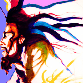 Bob Marley painting artwork Rosta