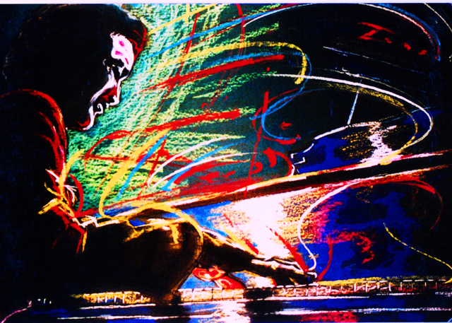 Barry Boobis  'Dave Brubeck Painting Artwork Piano Man', created in 2011, Original Painting Oil.