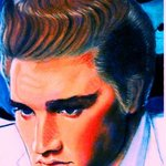Elvis Presley painting artwork The King By Barry Boobis