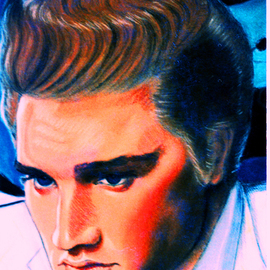 Elvis Presley painting artwork The King