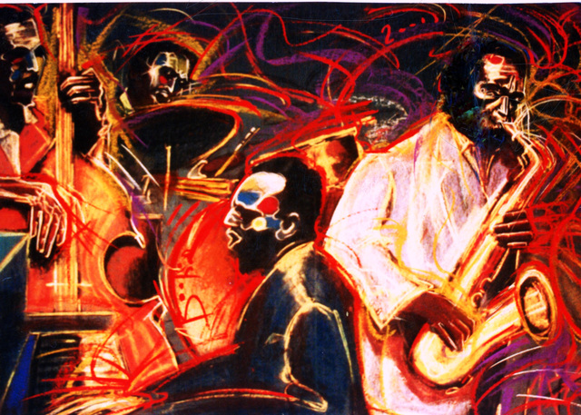 Barry Boobis  'New Orleans Quartet Painting Artwork', created in 2011, Original Painting Oil.