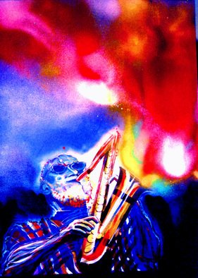 Artist: Barry Boobis - Title: Sonny Rollins painting artwork Talking to God - Medium: Acrylic Painting - Year: 2012