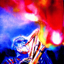 Barry Boobis Artwork Sonny Rollins painting artwork Talking to God, 2012 Acrylic Painting, Music