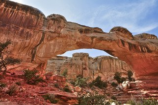 Barry Scharf: 'Hickman bridge', 2011 Color Photograph, Nature. Artist Description:  Capitol Reef National Park ...