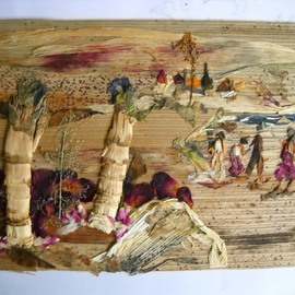 Basant Soni Artwork Tiny Picnic Spot, 2011 Collage, Landscape