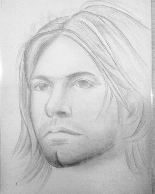 Bilal Albar Bayyanullaah: 'kurt cobain', 2018 Pencil Drawing, Music. Artist Description: Sketching of pencil drawing...
