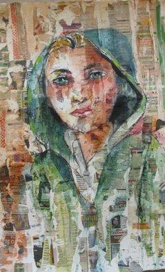 Lesta Frank Artwork The Green Raincoat, 2011 Mixed Media, Figurative