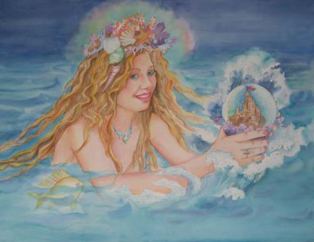 Lesta Frank  'Sea Fairy', created in 2005, Original Mixed Media.