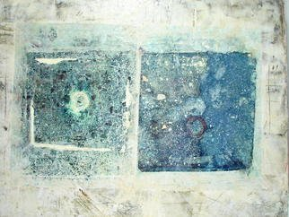 Boban Dosic Artwork Blue Stone, 2008 Encaustic Painting, Abstract