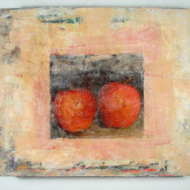 Boban Dosic: 'Red Apples', 2008 Encaustic Painting, Still Life.