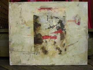 Boban Dosic Artwork Rusty Pole, 2008 Encaustic Painting, Abstract
