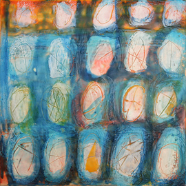 Beata Wehr Artwork E 24, 2009 Encaustic Painting, Abstract