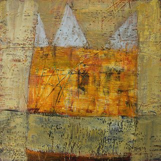 Beata Wehr Artwork E 46, 2011 Encaustic Painting, Abstract Landscape