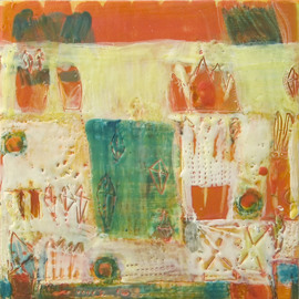 Beata Wehr Artwork E 9  10, 2009 Encaustic Painting, Abstract Landscape