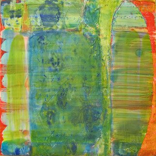 Beata Wehr Artwork E 9  11, 2009 Encaustic Painting, Abstract Landscape