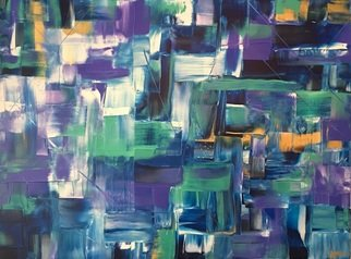 Kj Glenn: 'midnight sea', 2017 Acrylic Painting, Abstract. Acrylic on Canvas...