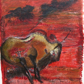 Becky Soria: 'Bison', 2011 Acrylic Painting, Abstract Figurative. Artist Description:                from the series Primitive