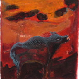 Becky Soria: 'Boar', 2011 Acrylic Painting, Abstract Figurative. Artist Description:             from the series Primitive
