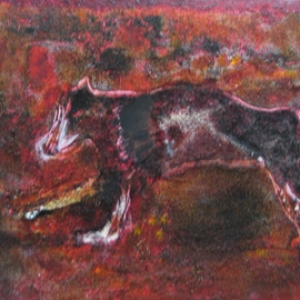Becky Soria: 'Hound', 2010 Acrylic Painting, Abstract Figurative. Artist Description:                      from the series Primitive