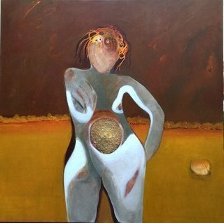Becky Soria Artwork The Moon is always a female, 2015 Mixed Media, Abstract Figurative