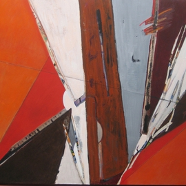 Becky Soria: 'Up Wind', 2010 Acrylic Painting, Abstract Figurative.