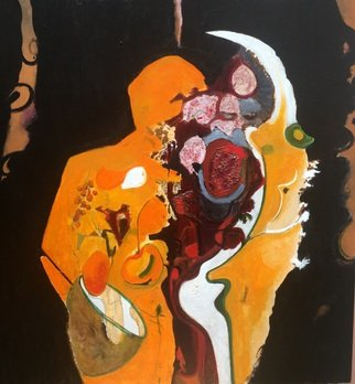 Becky Soria: 'body talk flowering', 2020 Acrylic Painting, Abstract Figurative. From the    Body Talk Collection...