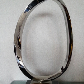 Wenqin Chen Artwork Endless Curve No2, 2010 Steel Sculpture, Abstract