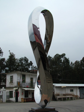 Steel Sculpture by Wenqin Chen titled: Endless Curve No3, 2010
