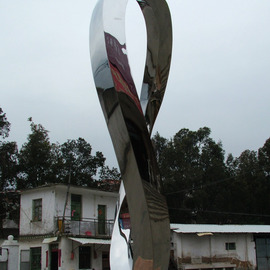 Wenqin Chen: 'Endless Curve No3', 2010 Steel Sculpture, Abstract. Artist Description: stainless steel sculpture, monumental sculpture, varied commissions available, up scale available, corporate sculpture, public sculpture. ...