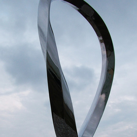 Wenqin Chen Artwork Endless Curve No4, 2010 Steel Sculpture, Abstract