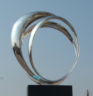 Steel Sculpture by Wenqin Chen titled: Eternal Curve No3, 2011