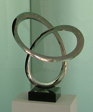 Steel Sculpture by Wenqin Chen titled: Infinity Curve No1, 2006