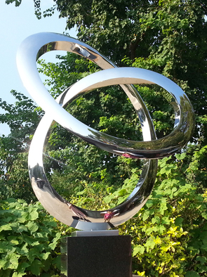Steel Sculpture by Wenqin Chen titled: Infinity Curve No2, 2006