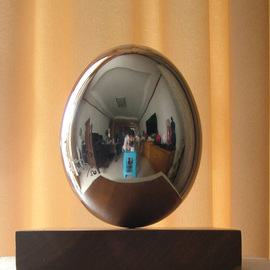 Wenqin Chen Artwork Standing Egg No1, 2009 Steel Sculpture, Abstract