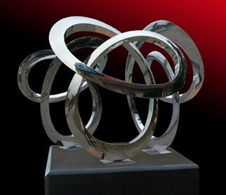Wenqin Chen Artwork Triple Infinity Curve, 2009 Steel Sculpture, Abstract