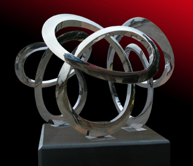 Wenqin Chen  'Triple Infinity Curve', created in 2009, Original Sculpture Steel.