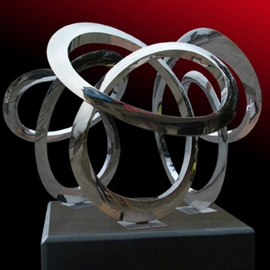 Wenqin Chen: 'Triple Infinity Curve', 2009 Steel Sculpture, Abstract.