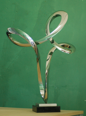Steel Sculpture by Wenqin Chen titled: Waving No1, 2012