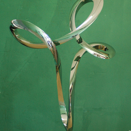Wenqin Chen Artwork Waving No1, 2012 Steel Sculpture, Abstract