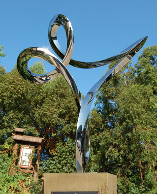 Steel Sculpture by Wenqin Chen titled: Waving No2, 2012